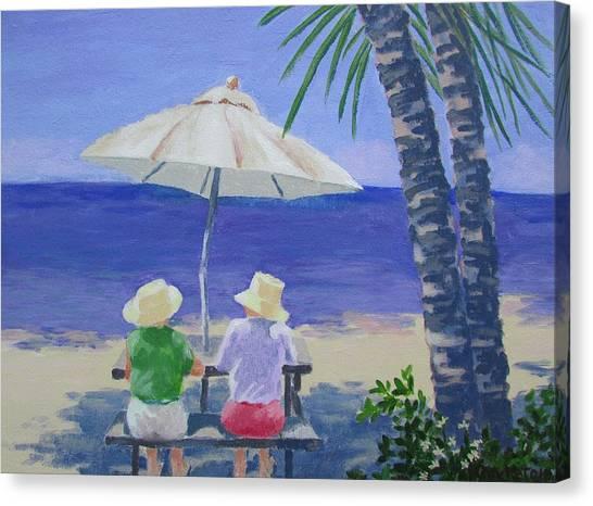 Sun Umbrella Canvas Print