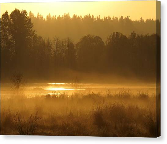 Sun Up At The Refuge Canvas Print