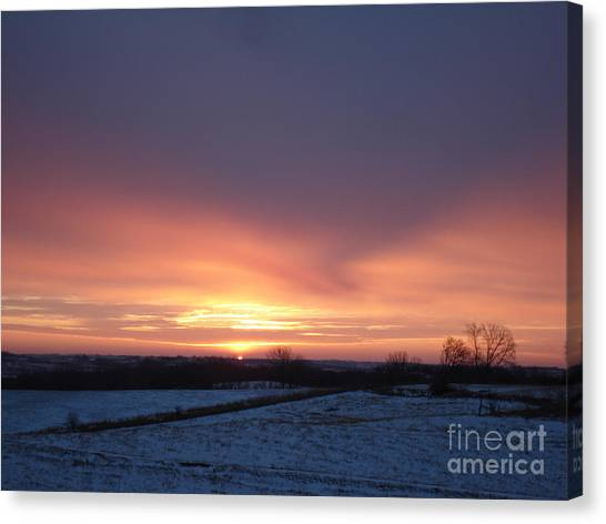 Sun Up In January Canvas Print