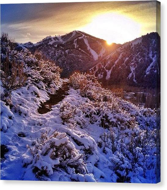 Idaho Canvas Print - Sun Valley Sunset by Cody Haskell