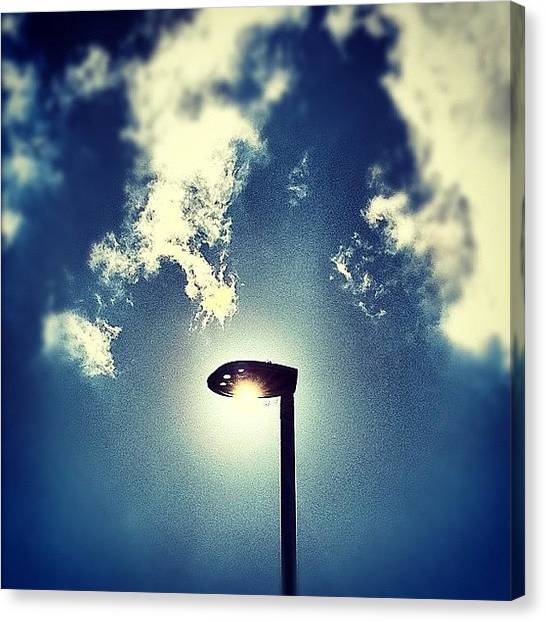 Ufos Canvas Print - Sun Versus Streetlamp by Urbane Alien