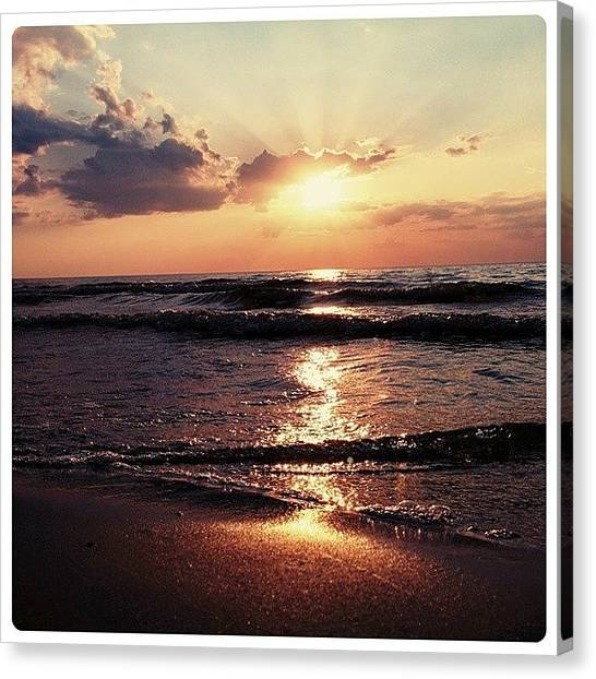 Sunset Horizon Canvas Print - Sun Way☀ by Raimond Klavins