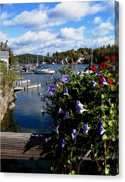Sunapee Harbor 1 Canvas Print by Will Boutin Photos