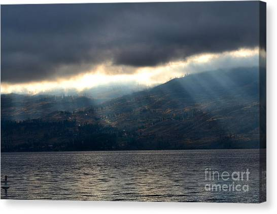 Sunbeams On The Mission II Canvas Print by Phil Dionne