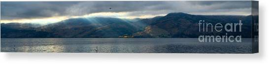 Sunbeams On The Mission Iv Canvas Print by Phil Dionne