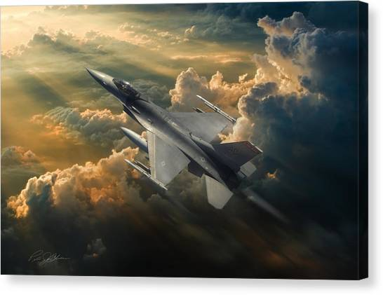 F16 Canvas Print - Sunbird by Peter Chilelli