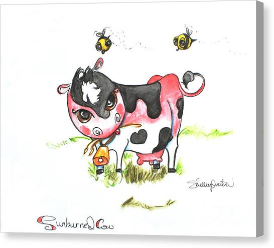Sunburned Cow Canvas Print