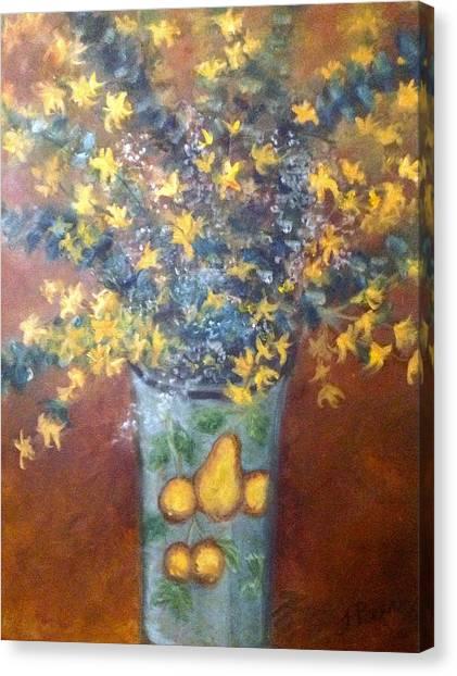 Sunburst Floral Canvas Print