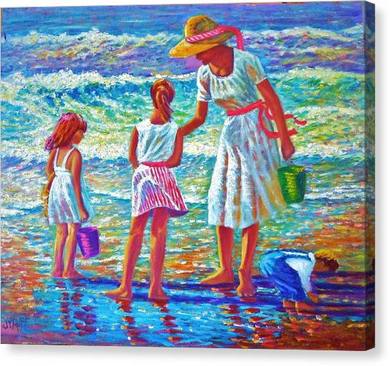 Sunday Afternoon At The Beach Canvas Print by Joseph   Ruff