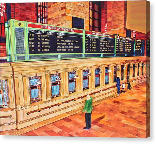 Sunday Am At Grand Central Canvas Print