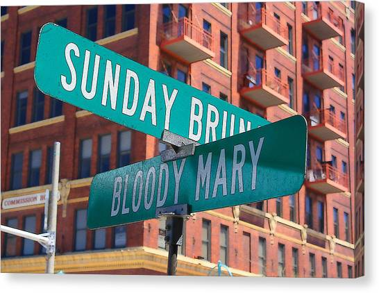 Bloody Mary Canvas Print - Sunday Bloody Sunday by Geoff Strehlow