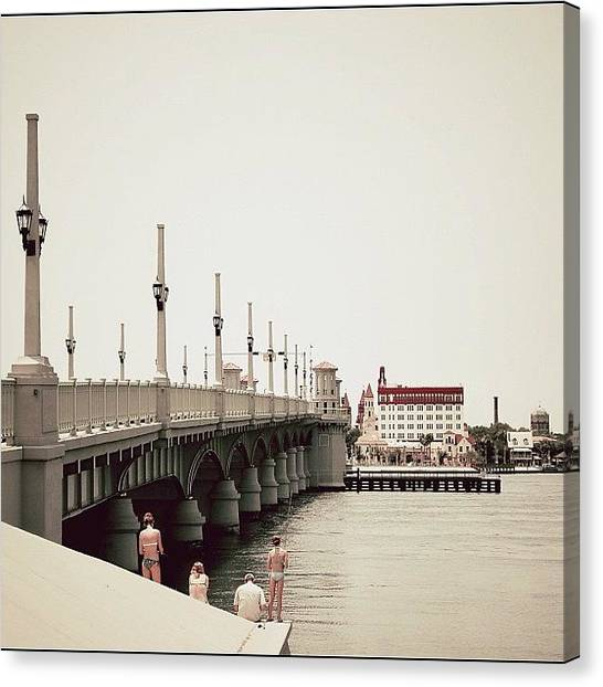 Igers Canvas Print - Sunday By The Bridge - Fl by Joel Lopez