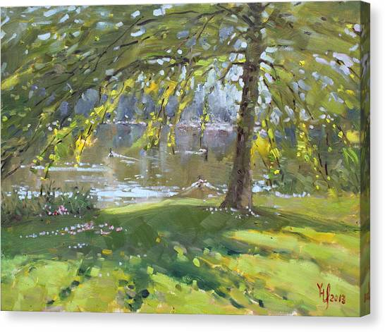 Port Canvas Print - Sunday By The Pond In Port Credit Mississauga by Ylli Haruni