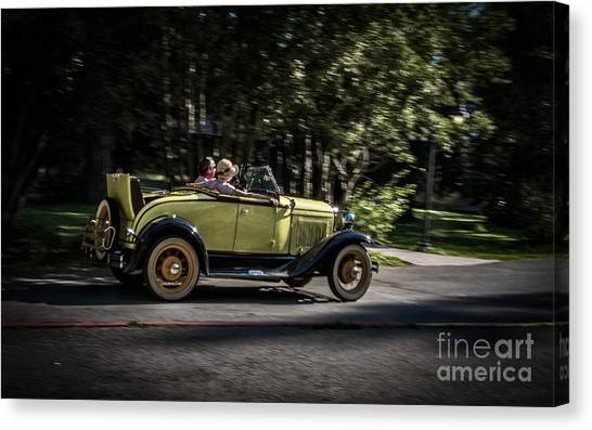 1932 Ford Canvas Print - Sunday Driver by Mitch Shindelbower