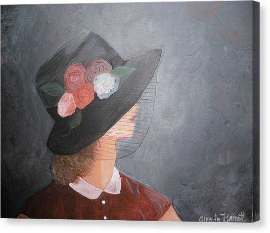 Sunday Hat Canvas Print by Glenda Barrett