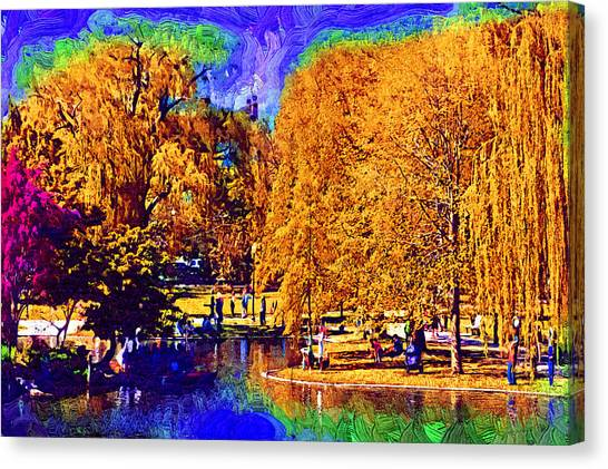Sunday In The Park Canvas Print