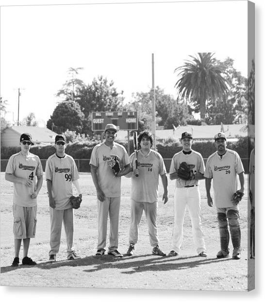 Baseball Teams Canvas Print - Sunday League by Daniel Paredes