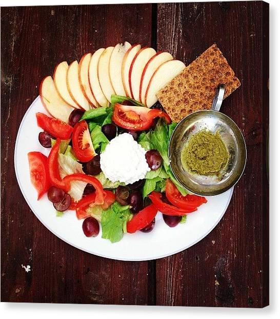 Salad Canvas Print - Sunday Lunch🍴 Lettuce, Tomatoe by Yazmin Zammit Stevens