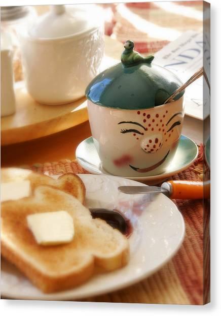 Grandma Canvas Print - Sunday Morning Jelly Jar by Peter Tellone
