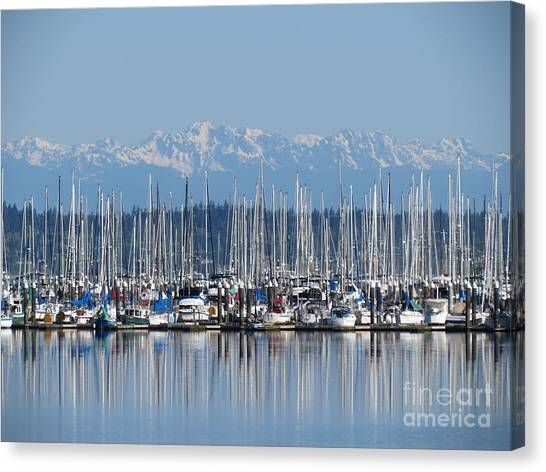 Sunday Morning Masts Canvas Print