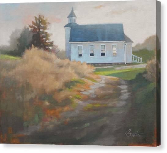 House Of Worship Canvas Print - Sunday Sunrise by Todd Baxter