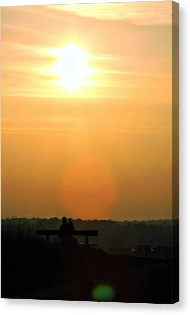 Sunday Sunset Canvas Print by Pedro Fernandez