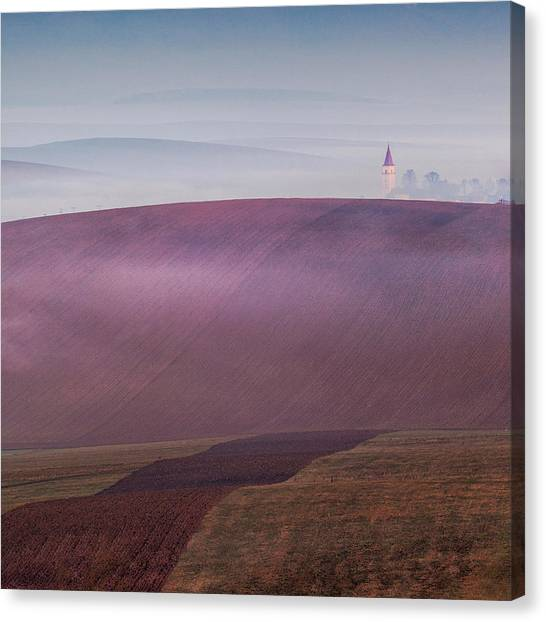 Church Canvas Print - Sunday's Silence by Peter Svoboda, Mqep