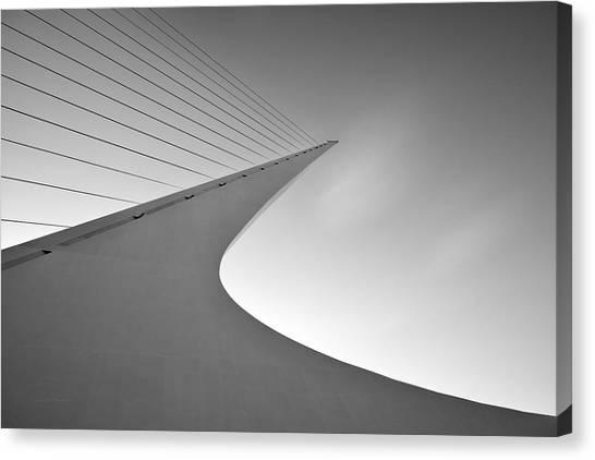 Sundial Bridge Bw 6 Canvas Print by Leland D Howard