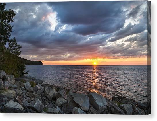 Sundown Bay Canvas Print
