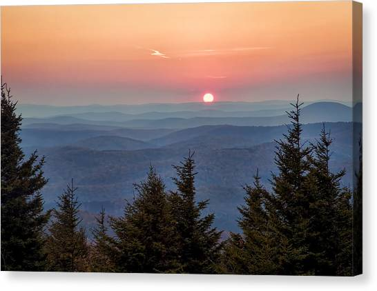 Sundown From Spruce Knob Canvas Print