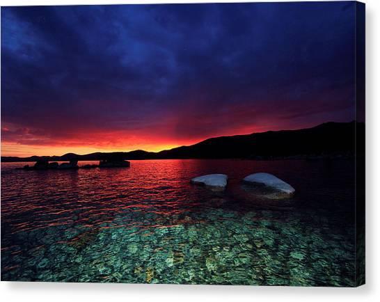 Sundown In Lake Tahoe Canvas Print