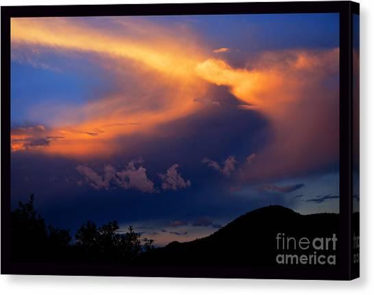 Sundown In The Canyon Canvas Print