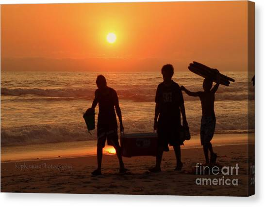 Bodyboard Canvas Print - Ocean - Sundown Sunset by Kip Krause