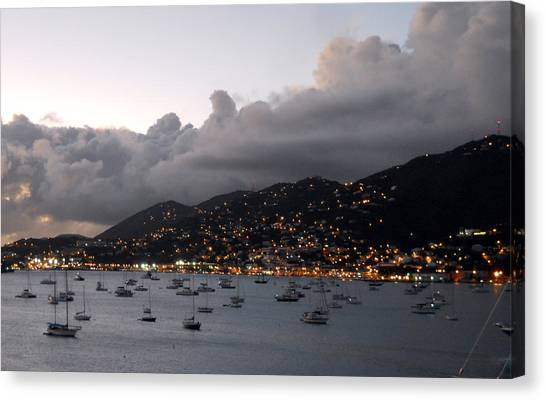 Sundown On St. Thomas Canvas Print