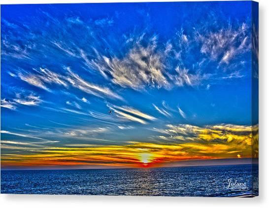 Sundown Over Pacific Canvas Print