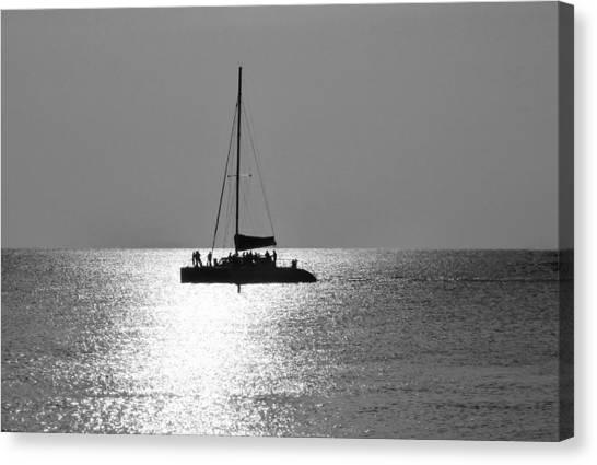 Sundown Sail Canvas Print