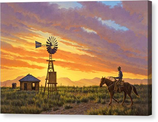 University Canvas Print - Sundowner by Paul Krapf
