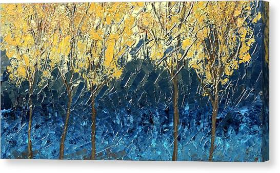Sundrenched Trees Canvas Print