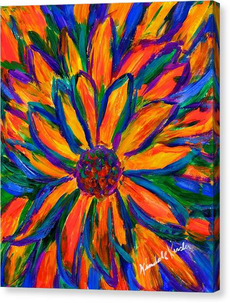 Sunflower Burst Canvas Print