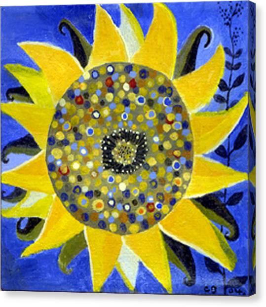Happy Birthday Canvas Print - Sunflower by Caroline Blum