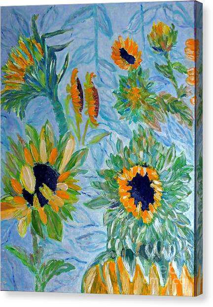 Sunflower Cycle Of Life 1 Canvas Print