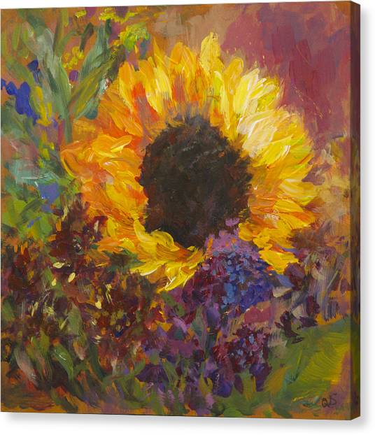 Sunflower Dance Original Painting Impressionist Canvas Print