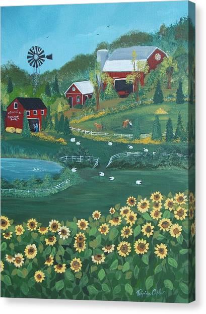 Sunflower Farm Canvas Print