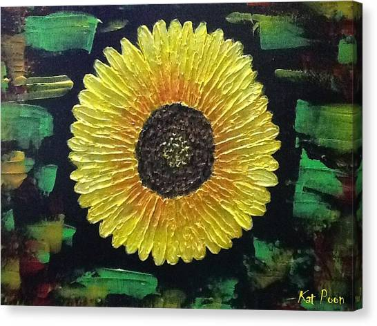 Sunflower Canvas Print by Kat Poon