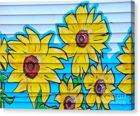 Sunflower Street Art Saint Johns Nfld Canvas Print
