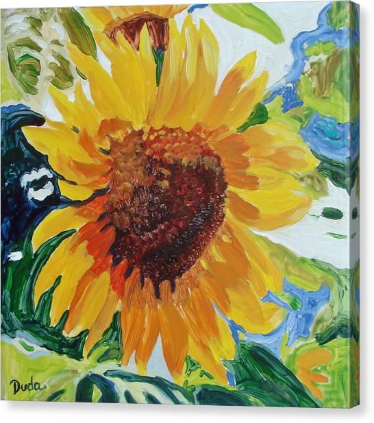 Sunflower Tile  Canvas Print