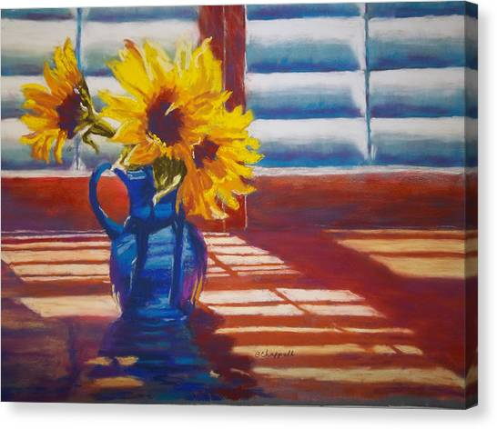 Sunflowers Backlight Canvas Print