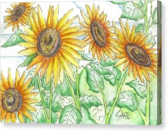Gypsy Canvas Print - Sunflowers In The George Garden by The GYPSY