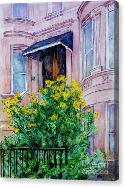 Sunflowers On 9th Street Canvas Print
