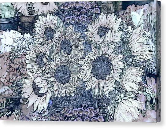 Sunflowers Paris Canvas Print
